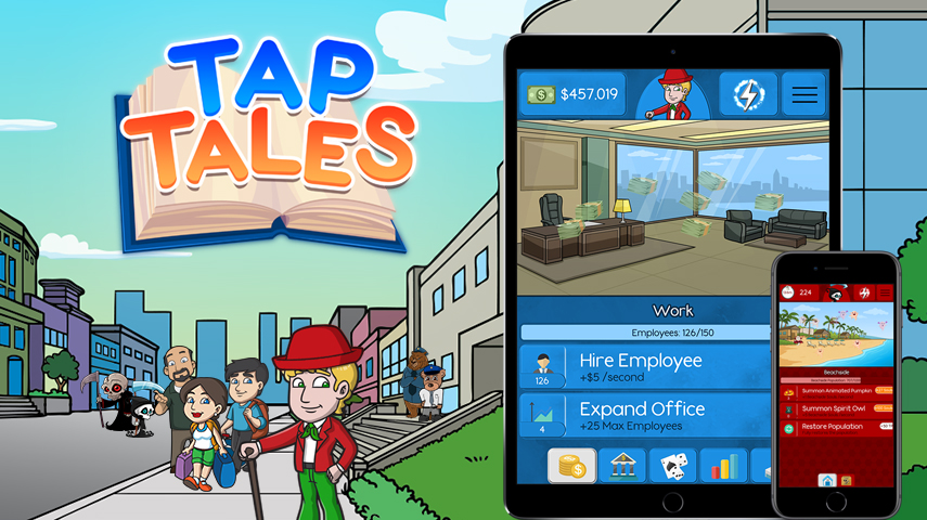 release ios android tap tales a card collecting game all about